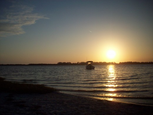 Fort DeSoto is beautiful, but seems very haunted after the sun has set.