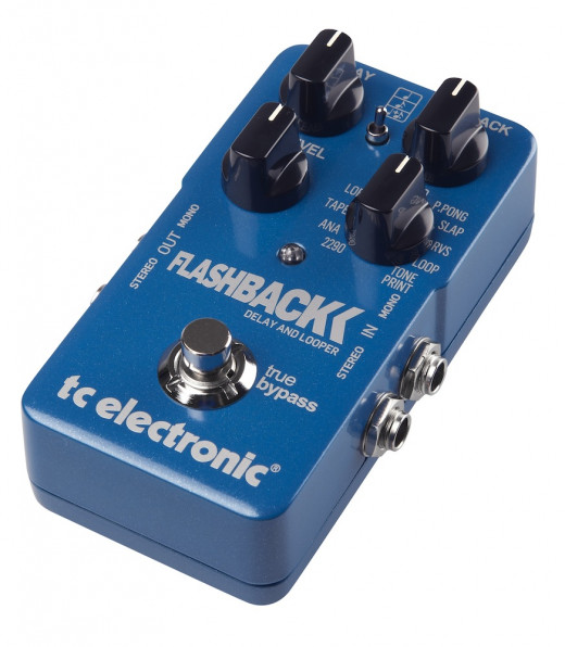 The FlashBack delay from TC Electronic packs a huge array of high-quality features into a compact pedal design.