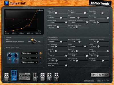 One of TC Electronic's biggest innovations is releasing their TonePrint editor to the public. Users can connect their pedals to a computer and edit every available parameter to create their own custom sounds!