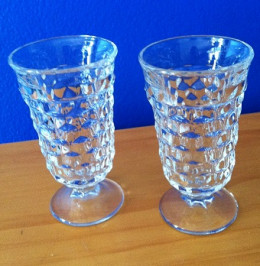 Two dessert glasses, one for each guest. (The entire recipe feeds 6, however it is very easy to modify.)