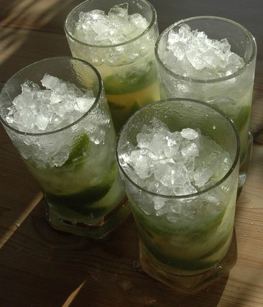 The Caiprinha is the unofficial drink of Brazil, probably the most well-known of cachaca cocktails.