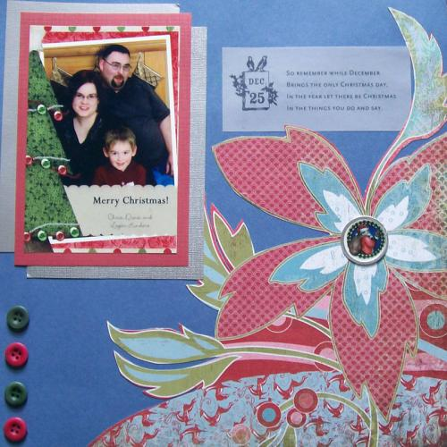 Cut flowers from bold patterned papers to make cheap page accents.