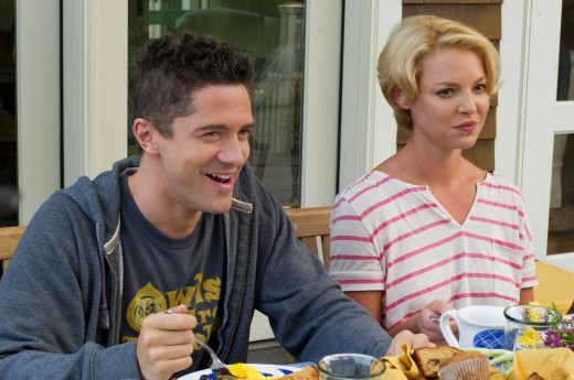 Topher Grace and Katherine Heigl play siblings in the romantic comedy about a dysfunctional family preparing for The Big Wedding