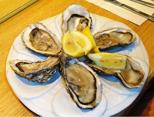 Lovely oysters just lightly steamed in their shells.