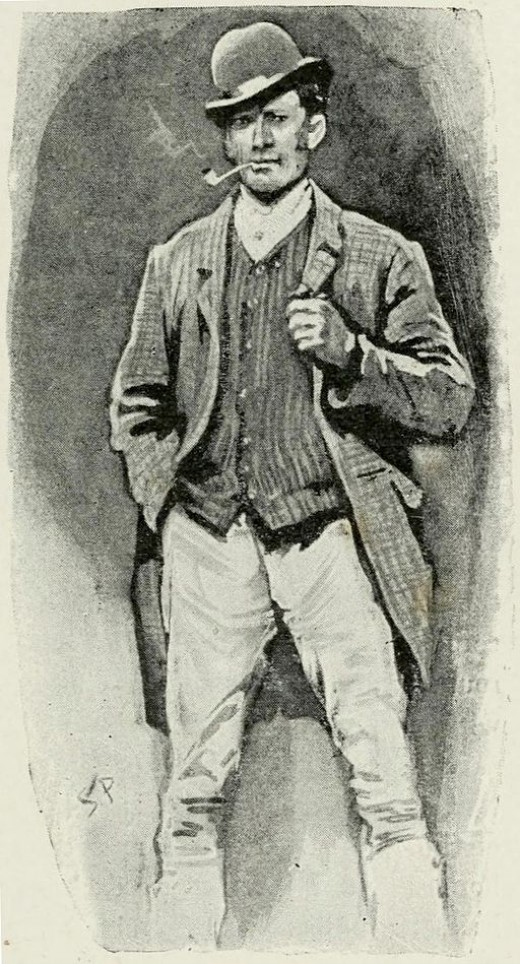Holmes in disguise as a Horse Groom in A Scandal in Bohemia