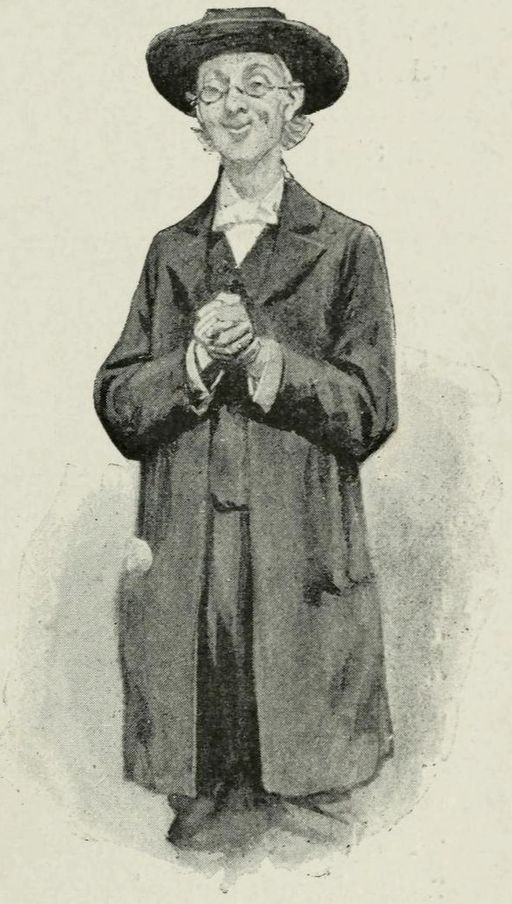 Holmes in disguise as a kindly old priest in A Scandal in Bohemia