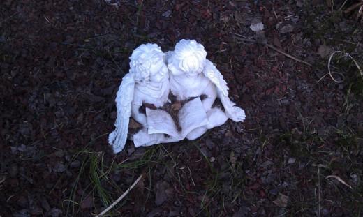 An outdoor sculpture