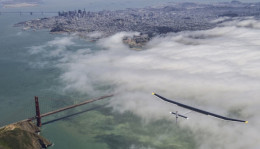 Flying above San Francisco and the Golden Gate
