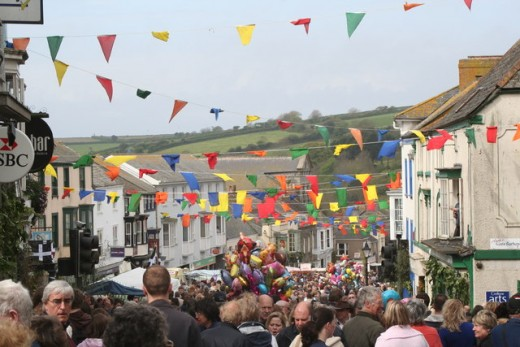 Cornish Festivals - Flora Day, Helston, Cornwall.  8 May Each Year.   Source: C.WM