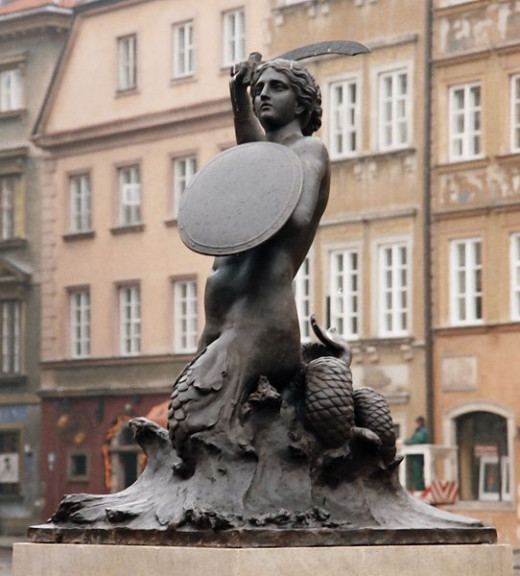 The Mermaid in the Old City in Warsaw