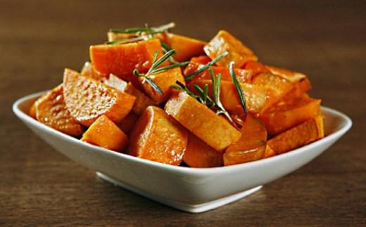 Sweet potatoes as a side dish. Yum!