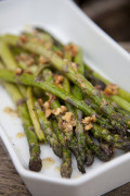 Roasted Cheese and Garlic Asparagus