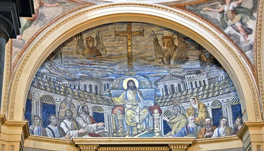 Mosaic in the apse of Santa Pudenziana.