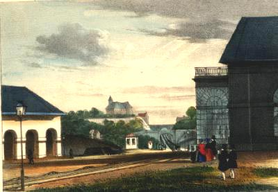 Henri Borremans: Brussels-Prussian border railroad line: View of slopes towards Liège at Ans