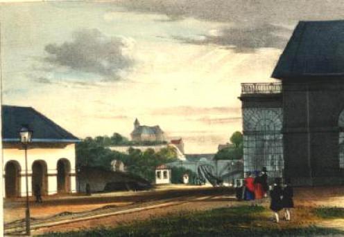 Henri Borremans: Brussels-Prussian border railroad line: View of slopes towards Liège at Ans