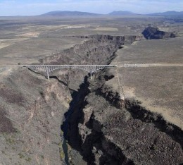 The Rio Grande Gorge with San Antonito mountain in the background
