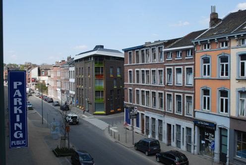 View of Rue du Plan incliné in Liège