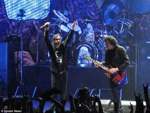 Black Sabbath live in New Zealand 2013.  Although the band began life in the West Midlands, England, they played many of their early gigs in the Cumbrian city of Carlisle, up in Northwest England near the border with Scotland.
