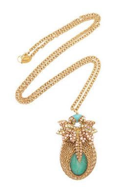 Bijoux Heart Bud turquoise necklace