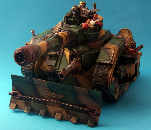 A great example of a vehicle from the Warhammer 40000 universe.