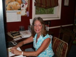 This writer's office opens her voice