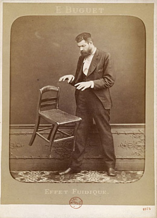 Edouard Isidore Buguet in a telekinesis photo hoax.