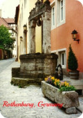 Historic Medieval City with City Defensive Walls ~ Photos of Rothenburg, Germany