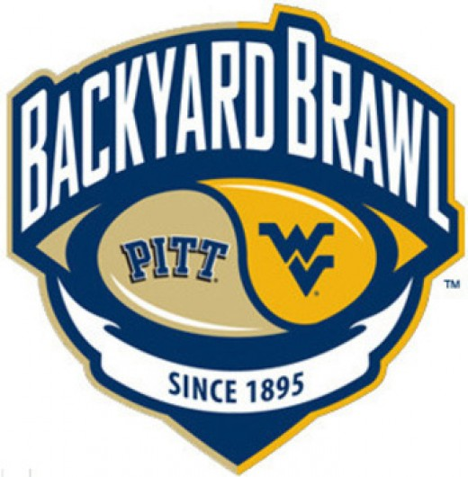 A long time college rivalry that even has a name: The Backyard Brawl. Sadly, the rivalry ended in football when WVU moved to a different conference in 2012.