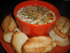 Baked Crab Dip:  A Recipe for Hot Crab Dip Made with Cream Cheese