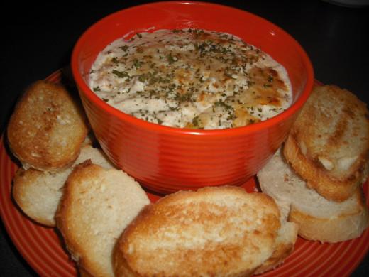 Hot, creamy crab dip!