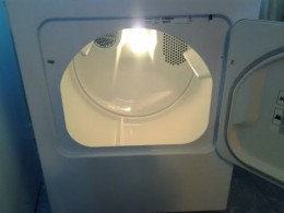 As you can see the light is very bright inside the dryer.