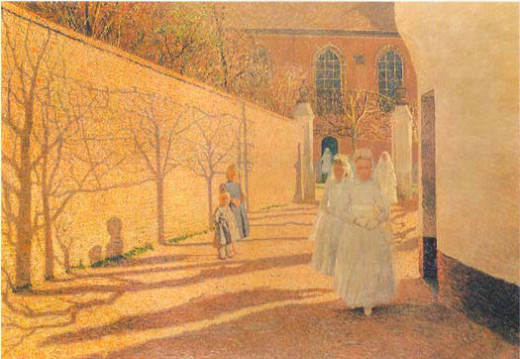 "Painting by Emile Claus – ""First Communion"""