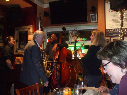 Larry McKenna and friends performing at the High Note Cafe on April 17, 2013.