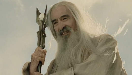 Saruman, the legendary Christopher Lee.....I bet Duck Dynasty would have him on!