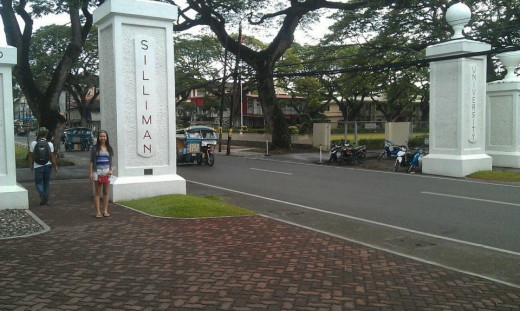Photo of me on the road at Siliman University