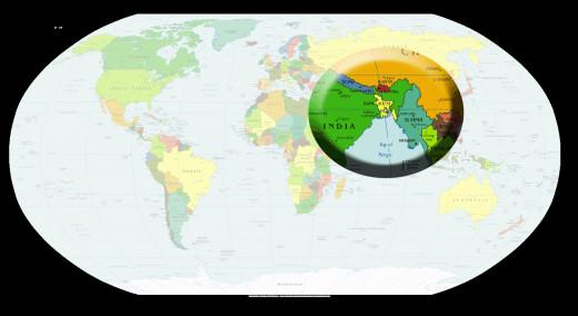 Bangladesh on the world map