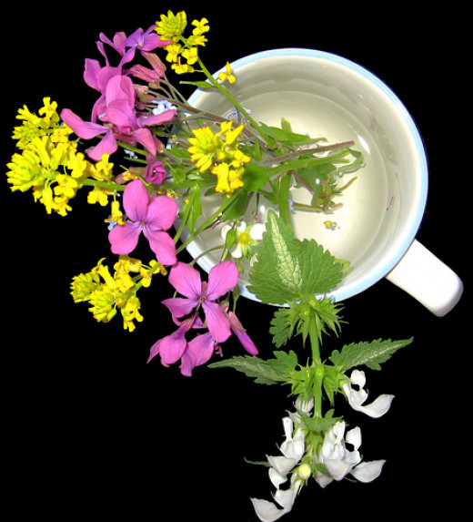 """Freshly picked """"weeds"""" or wildflowers are much cheaper than buying from a florist!"""