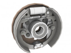 What is the working mechanism of brake system in a car?