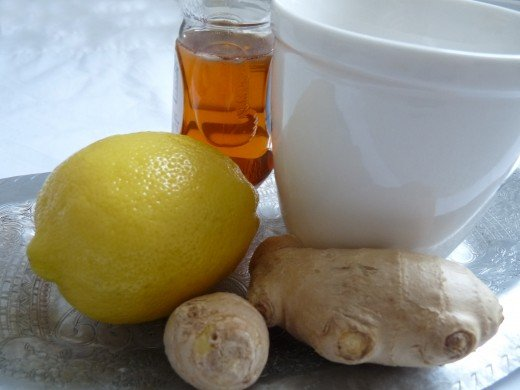 Fresh ginger tea helps with many of the worst symptoms of the cold and flu.