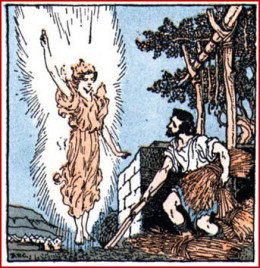 Gideon Visited By An Angel of the LORD