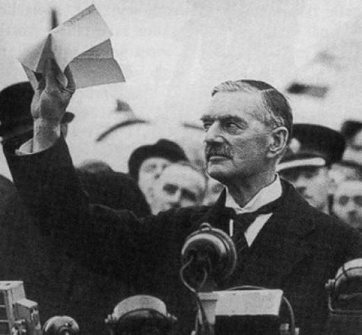 Neville Chamberlain After The Munich Conference