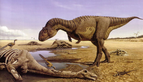 Majungasaurus as depicted by Raúl Martín.