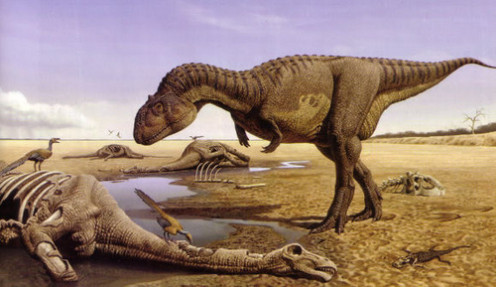 Majungasaurus as depicted by Raúl Martín.