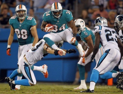 This is another great action shot. This time it is a game with the Miami Dolphins and the Carolina Panthers.
