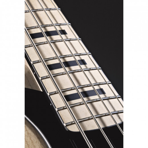 The Squier 70s Vintage Modified Jazz Bass's inlays and binding aren't real--they're painted on. However, they don't seem to have worn after a year of playing.