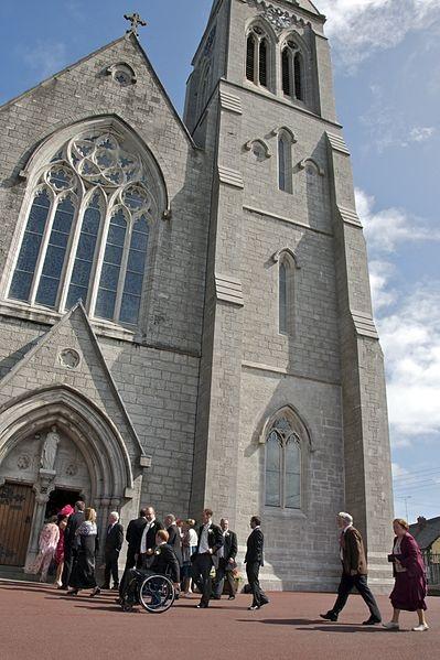 Guests Arriving At Chapel
