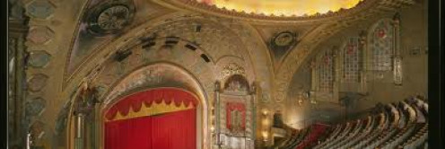 The inside of the Alabama Theatre is a sight to behold indeed. Many old fashioned relics are hanging all around the auditorium.