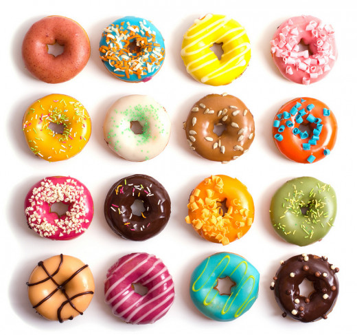 So many creative, delicious donuts!  Diet busters!