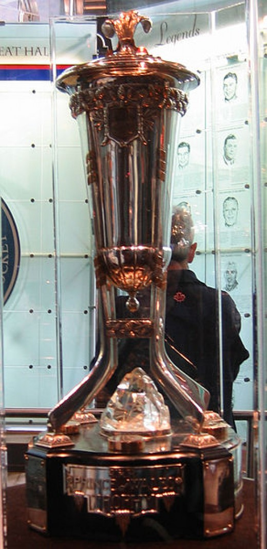 The cherished Prince of Wales Trophy, awarded to the winner of hockey's tough Eastern Conference