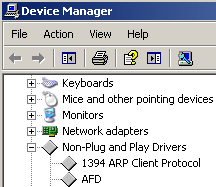 Scroll down to Non-Plug and Play Drivers.